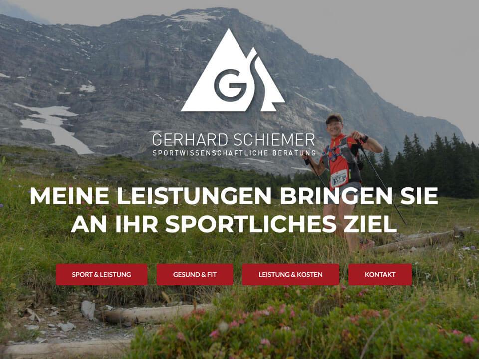 Website Gerhard Schiemer