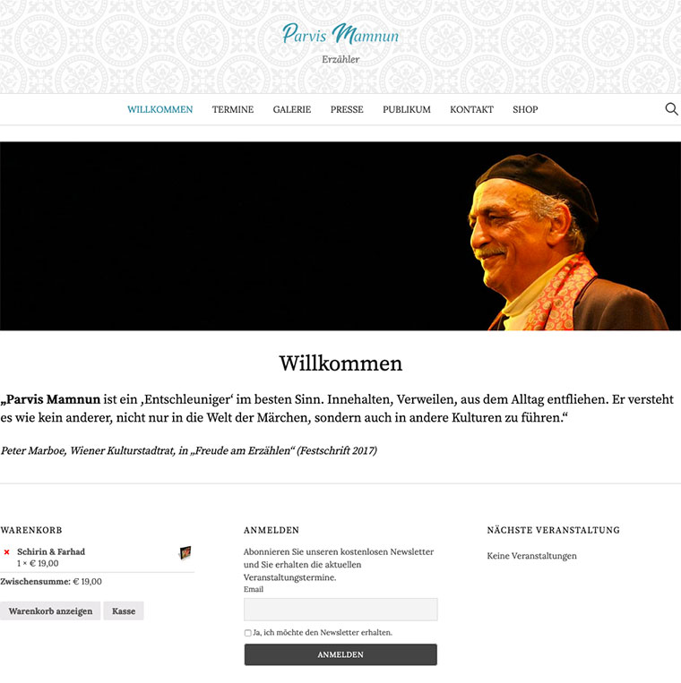 Website Parvis Mamnun