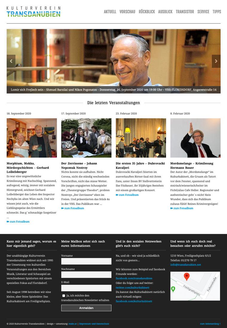 Website Transdanubien